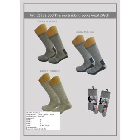 Apollo 25222 Thermo Tracking Sokken 2-pack