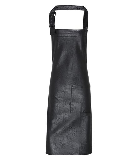 Premier - Faux Leather Bib Apron