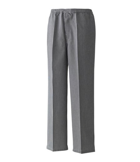 Premier - Pull On Chef's Check Trousers